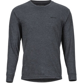 Marmot Woodcut LS Tee Men charcoal heather